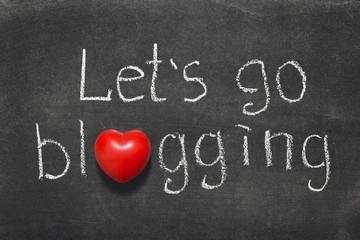 go blogging