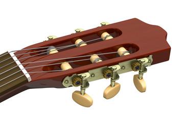 Classical Guitar Headstock Closeup