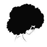 Fototapety profile silhouette of girl