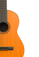 Classical Guitar Body Closeup
