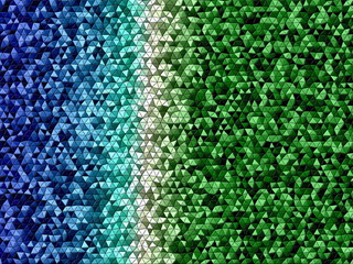 Blue White and Green Mosaic Shapes Background