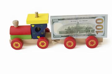 деньги на паровозе