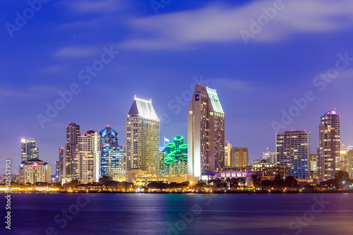 Poster San Diego skyline at sunset