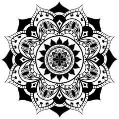 Vector mandala on a white background