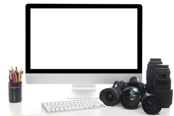 Digital Camera and modern laptop