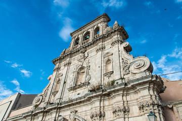 View of Syracuse, Ortigia, Sicily, Italy, buildings facing the