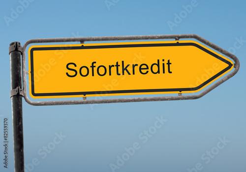 Strassenschild 38 - Sofortkredit