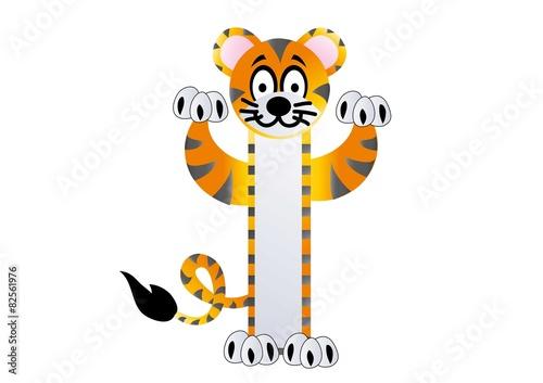 Tygrys,zoo,kot,miarka,naklejka,dżungla