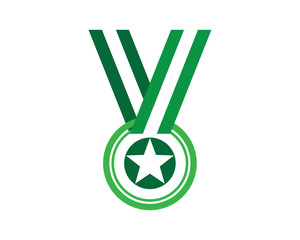 Star Medalion, V letter logotype