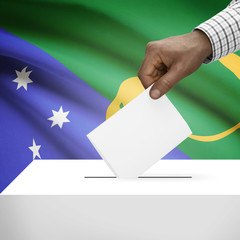 Ballot box with national flag - Christmas Island