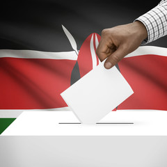 Ballot box with national flag on background series - Kenya