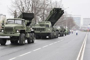 military hardware parade on May 9