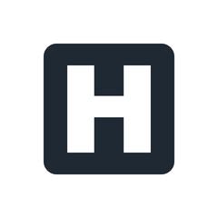 icon hospital sign
