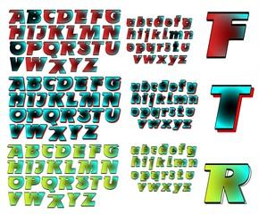 ABC Alphabet lettering design Future