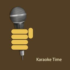 vector modern karaoke time background.