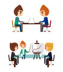 Business negotiations set.