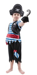 Happy boy wearing pirate costume