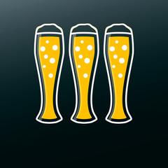 Beer icon in modern flat design. Alcohol beverage drink symbol