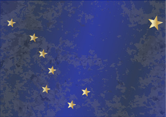 The flag of the state of Alaska