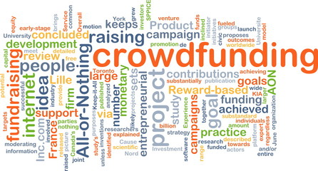 Crowd funding background concept