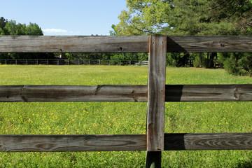 Farm Fence In Spring