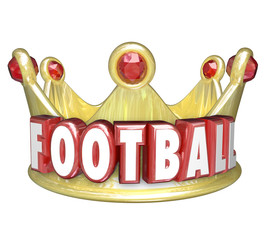 Football Crown Best Player Team WInner Victory Top Competitor