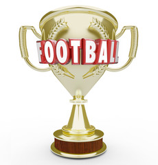 Football Best Team Golden Trophy Award Soccer Champion Winner Vi