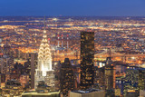 New York City Manhattan aerial view at dusk. - 82579331