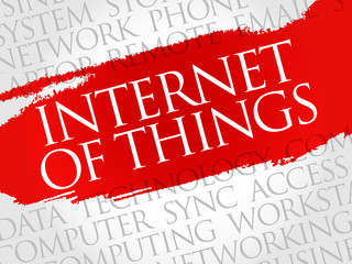 Internet of Things (IOT) word cloud concept