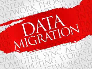 Data Migration word cloud concept