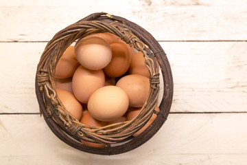 Cestino con le uova