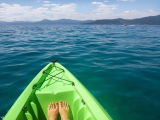 kayaking water sport activity at lake tahoe