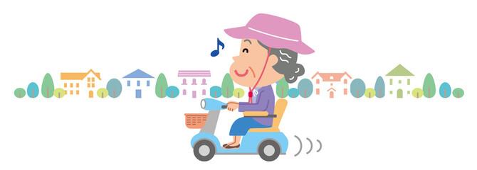電動車いす 高齢者 おばあさん