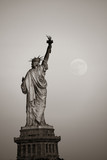 Statue of liberty and moon - Fine Art prints