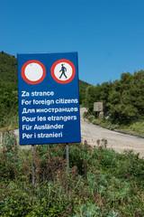Xenophobic Road Sign