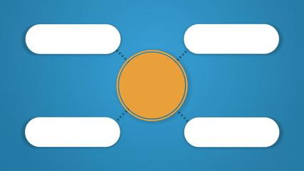 Circle tree diagram for presentation.typo topic box. 4