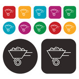 wago, wheelbarrow icon poster