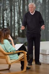 Psychologist listen to her patient