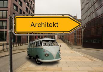 Strassenschild 46 - Architekt
