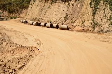 Road under construction.