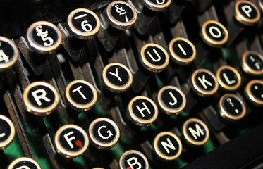 Old Vintage Typewriter Keys