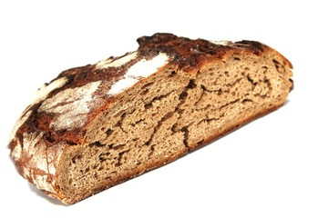 ausgetrocknetes Brot / aufgeschnitten / isoliert