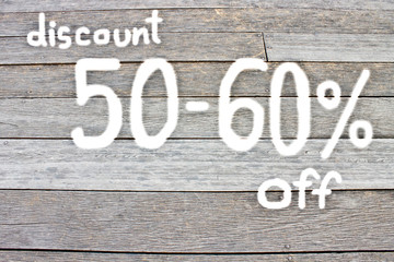 50 to 60 percent discount