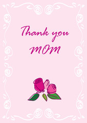 Thank you Mom greeting card.