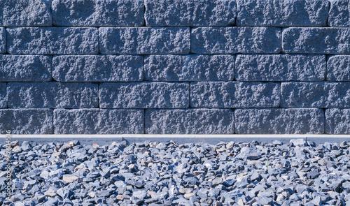 Moderne graue steinwand mit steine f r garten stockfotos und lizenzfreie bilder auf fotolia - Graue steinwand ...