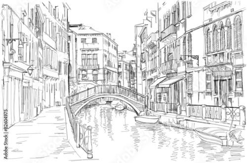 Fototapeta Venice - Fondamenta Rio Marin