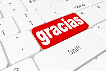 "Button ""gracias"" on keyboard"