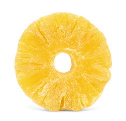 A whole ring of dried candied pineapple.