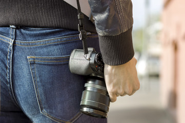 Carrying Photo Camera