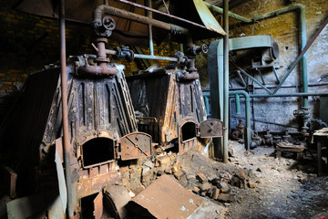 Old and abandoned boiler